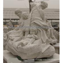 Tallando la estatua de mármol de piedra para la escultura del jardín (SY-X1723)
