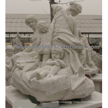 Carving Stone Marble Statue for Garden Sculpture (SY-X1723)