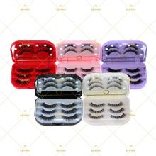 10D Mink Eyelash Mirror Case With LED Light 3 Pairs 1 Pair Tray Packaging Box Eyelash  Vendor Drop Shipping Factory