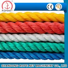 3 strengen twisted touw van polypropyleen-monofilamenten