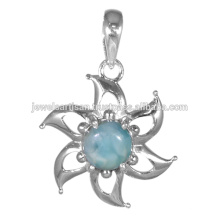 Larimar Gemstone 925 Sterling Silver Pendant Jewelry