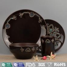 Fancy Design - Juego de vajilla de cerámica esmaltada