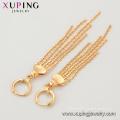 97259 xuping bonne qualité 18k or couleur fashion ladies personnalisées chaîne drop boucles d'oreilles
