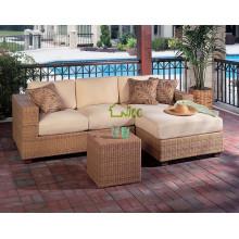 DE-(80) outdoor furniture sofa set designs/ corner sofa with sofa bed