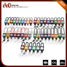 Elecpopular Hight Qualidade Cadeado de segurança de aço inoxidável personalizado Bloqueio de grilhador de metal longo com chave normal 38mm