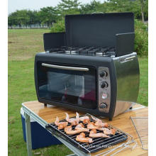 Cocina al aire libre barbacoa Cocina de gas horno con estufa