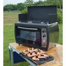 Cozinhar ao ar livre churrasco Camping gás fogão forno com fogão