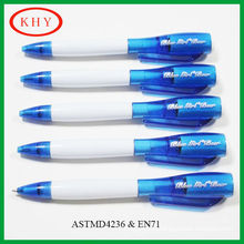 New designed wholesale ballpoint pen with led torch