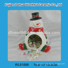 2016 Christmas ornaments ceramic candy holder in snowman shape