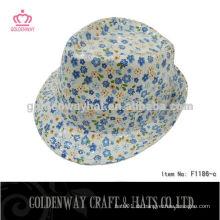 Förderung 100% Polyester Frauen Fedora Hut