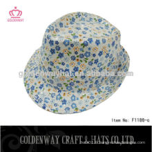 Promotion 100% Polyester Femmes Fedora Hat