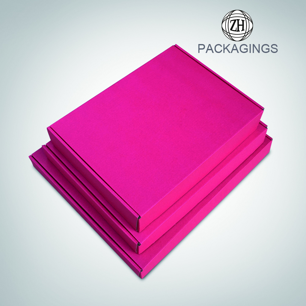 One side color print clothing mailer box
