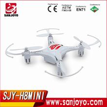 Vente chaude jouets 2.4G 4CH 6 Axe gyro rc Quadcopter JJRC Mode Sans Tête Drone 1 Clé Retour RTF JJRC H8 Mini