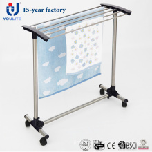 Stainless Steel Towel Rack with Wheels