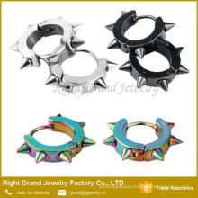 Wholesale High Quality Customized IP Plated Rainbow Hoop Earrings
