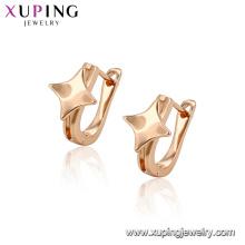 96380 xuping populares diseños de oro de venta caliente con forma de estrella pendiente de aro