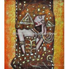 Pintura nu do artista da decoração da mulher