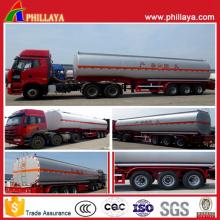Tri-Achsen-chemischer flüssiger Tanker-halb LKW-Anhänger (PLY9400CTT)