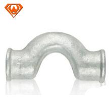 Encaixes de tubulação de ferro maleável galvanizado por imersão a quente