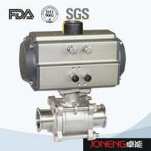Stainless Steel Sanitary Pneumatic High Purity 3piece Ball Valve (JN-BLV2002)