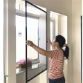 Retractable window screens for french window