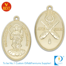 Customized Zinc Alloy Pressure Stamping 2D Both Side Religious Medal in High Quality