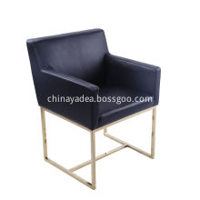 Emery Lether Track Arm Leather Armchair