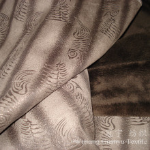 Bronzing Leather Polyester Suede Fabric for Upholstery