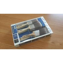 Cepillo de pintura 6pk con cerda gris