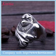 2015 novos produtos falcão de aço inoxidável anel de pássaro pingentes anel mal-olho homens anel