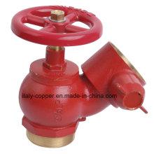 Válvula de hidrante de fuego de latón de calidad personalizada (AV4062)