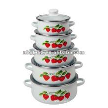 5pcs casserole set 673DG with glass lid