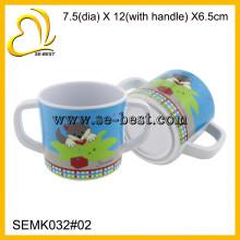 прекрасный меламин чашки дети с двойной ручкой, меламин кружку для питья