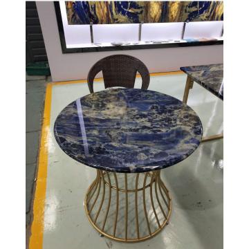Halbedelsteinblauer Sodalith-Tisch