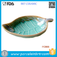 Porte-savon en forme de feuille en forme de goutte Porte-savon en céramique bon marché