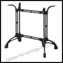 Base de mesa de ferro fundido preto de estilo Antique Two Leg (SP-MTL129)