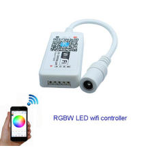 Controlador do controlador DC12V do diodo emissor de luz RGBW do wifi mini para a luz do módulo da tira do diodo emissor de luz de 5050 RGBW