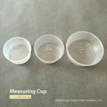 Vaso medidor de plástico desechable de grado médico