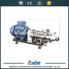 ss304 stainless steel sanitary double screw pump for ketchup