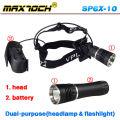 Maxtoch SP6X-10 1000 Lumen Magnet Flashlight And Headlight Dual-purpose Cree LED Headlamp