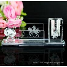 Optisches Glas Kristall Pinsel Topf Günstige Kristall Stifthalter