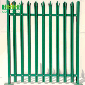 Galvanized Steel W Section Palisade Garden Fence