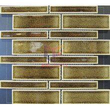 Brown Ice-Cracked Ceramic Mosaic (CST154)