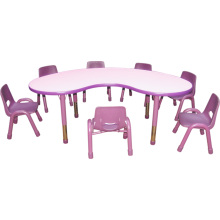 Cadeira de crianças e secretária para mesa de escola de mobiliário infantil