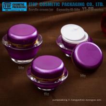 YJ-PB série 15g 30g 50g U.F.O. forme acrylique en pots et couvercles