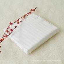 1cm Stripe 1inch Hem na extremidade Sateen Hotel Folha de cama