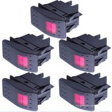 Interruptor de eje de balancín encendido / apagado de la luz del LED / interruptor rotatorio impermeable del barco / del coche