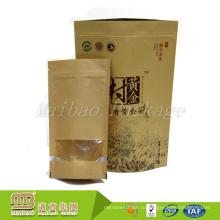 Изготовления Китая Подгонянный Стоьте Вверх Высушенная Еда Paperbag Пластиковая Упаковка С Окном