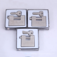 Hardened Solid Steel Rectangular Padlock with 4 Computer Key