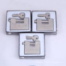 Cadeado retangular de aço sólido endurecido com 4 chaves de computador